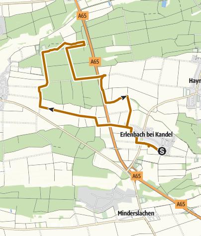 Karte / Erlenbach - Nordic Walking Tour 2 - Rundtour
