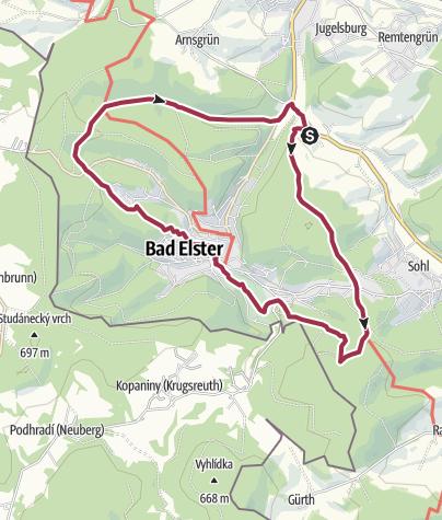 Karte / Ringweg um Bad Elster