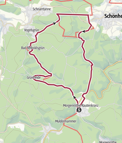 Karte / Über Grünheide nach Schönheide