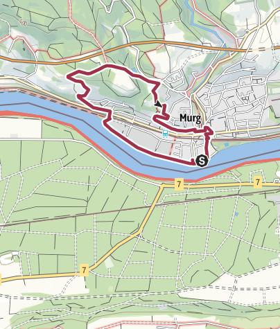 Karte / Murg: Spazierweg