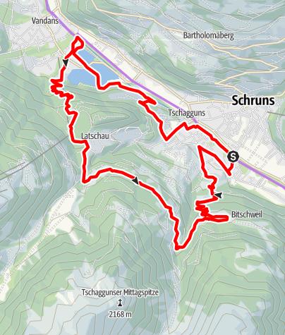 Karte / Stausee Tour Latschau - Bitschweil (E-Bike)