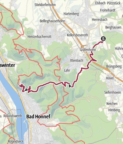 Karte / Bergischer Weg Etappe 13