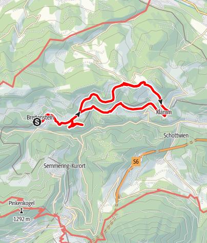 Mapa / Breitenstein -  Einkehrrunde über den Kreuzberg