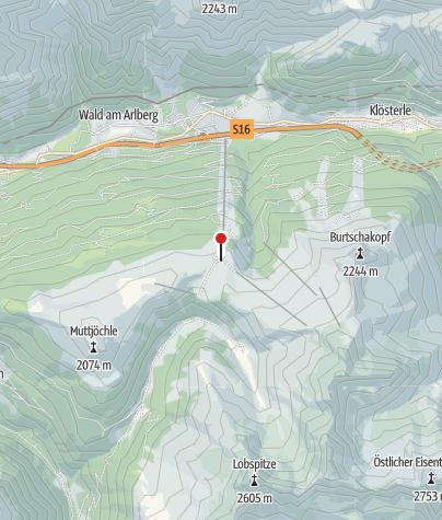 Map / L4: Bergstation Sonnenkopfbahn, Klösterle