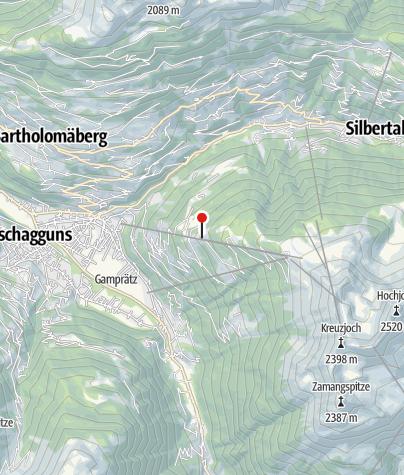 Karte / L6: Gasthaus Kropfen, Mittelstation Hochjoch Bahn, Schruns