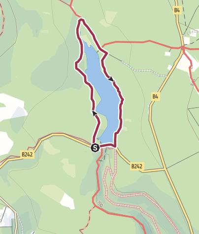 Karte / Rundwanderweg Oderteich