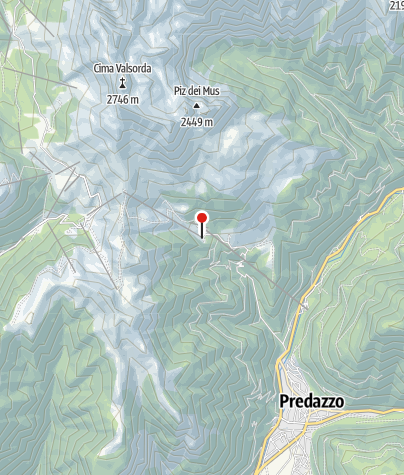 Karte / Talstation Sessellift Gardonè-Passo Feudo
