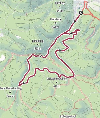 Karte / Durch das Ilsetal zur Plessenburg