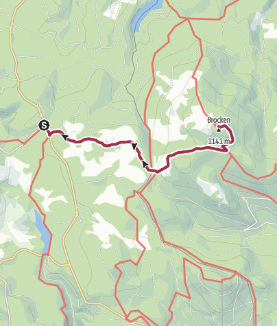 Karte / The Goethe Trail to the Brocken Summit