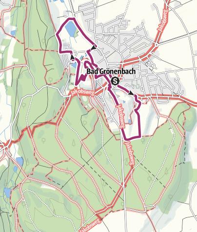 Karte / Trilogie-Rundgang Bad Grönenbach