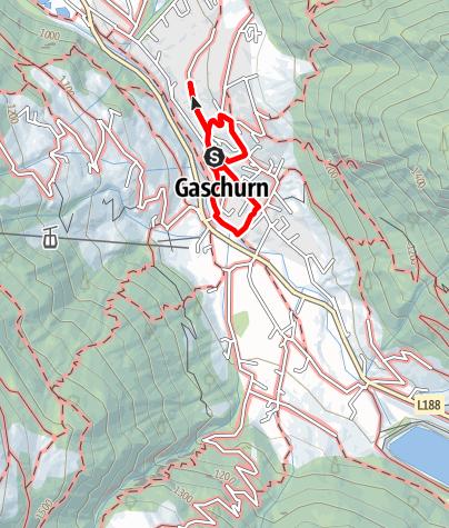 Karte / A1: Dorfrunde Gaschurn