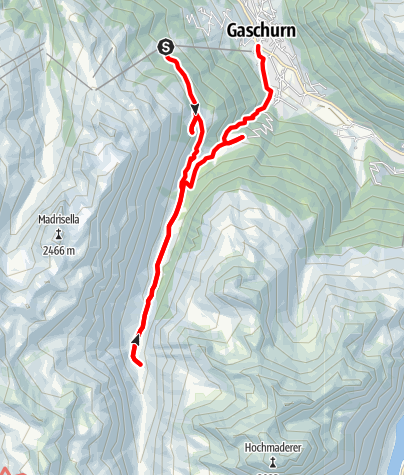 Karte / A2: Ins Garneratal