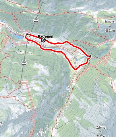 Kaart / Dorfrunde Partenen