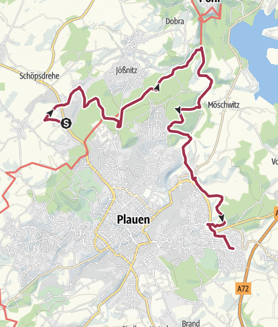 Karte / Plauener Rundwanderweg - Etappe 4 - Plamag Reusa