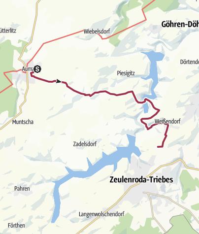 Karte / 1. Thüringer Planetenwanderweg