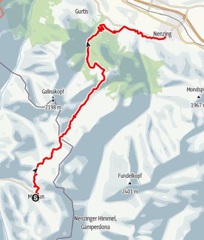 Karte / Walserweg E 05 – Auf den Spuren von Schmugglern, Bettlern und Wilderern