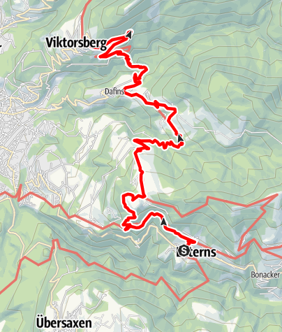 Karte / Walserweg E 08 – Bei den Walsern im Vorarlberger Rheintal