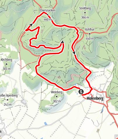 Karte / Düsteres Bruch und Große Holle: Über den Ebersnacken (Ho 2)