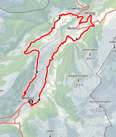 Karte / Walserweg E 17 – Wegverbindungen in einem Tal der Grenzgänger
