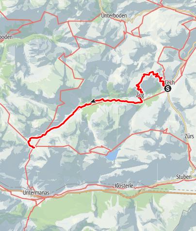Karte / Walserweg E 20 – Auf dem Grünen Ring und Lechweg