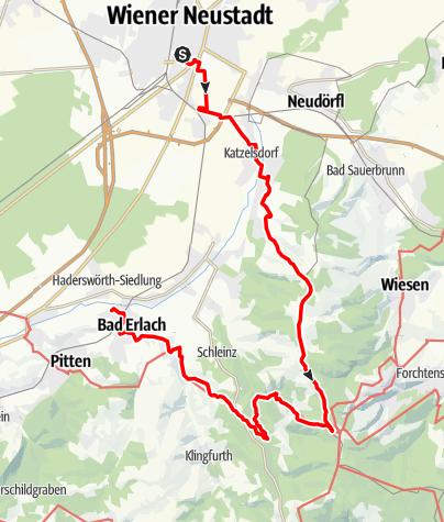 Mapa / WAB - Etappe 1: Katzelsdorf - Bad Erlach