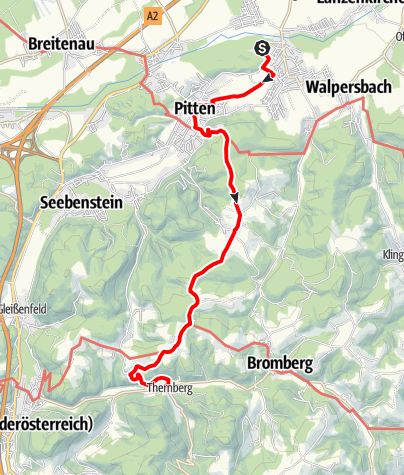 Mapa / WAB - Etappe 2: Bad Erlach - Thernberg