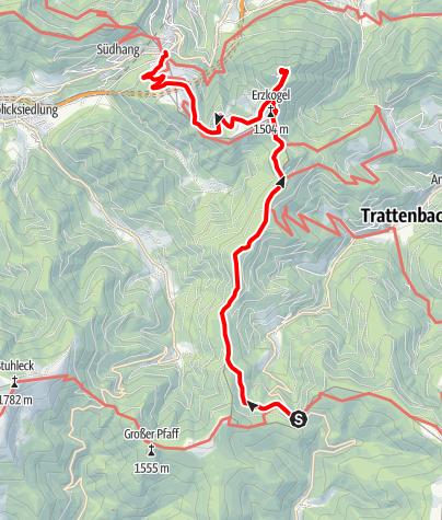 Karte / WAB - Etappe 9: Feistritzsattel - Semmering