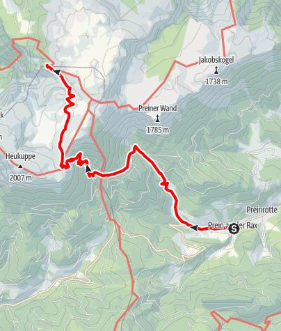 Karte / WAB - Etappe 11: Prein - Habsburghaus