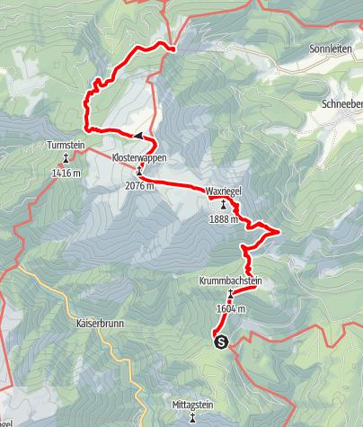 Mapa / WAB - Etappe 14: Knofeleben - Edelweißhütte
