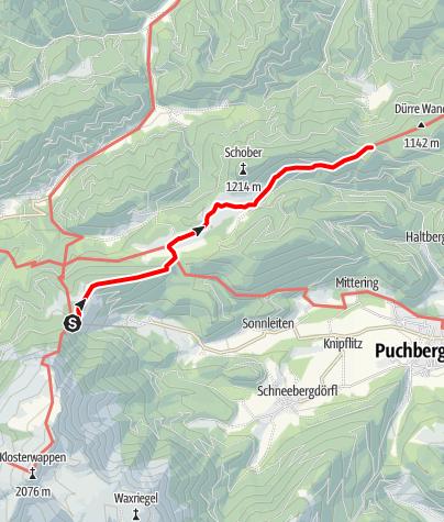 Karte / WAB - Etappe 15: Edelweißhütte - Öhler Schutzhaus
