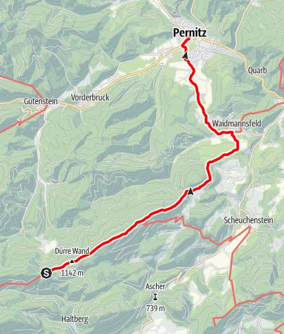 Karte / WAB - Etappe 16: Öhler Schutzhaus - Pernitz