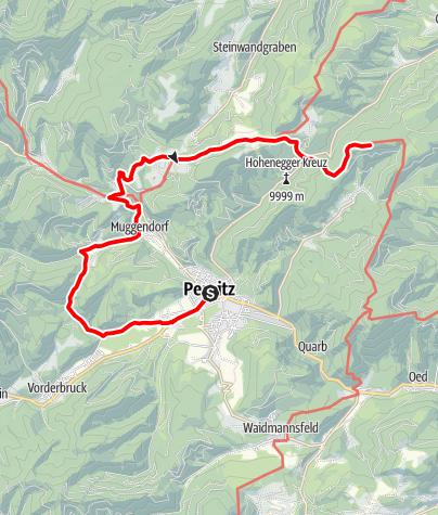 Karte / WAB - Etappe 17: Pernitz - Waxeneckhaus