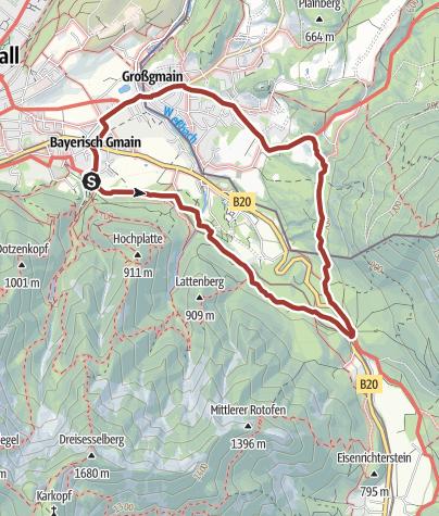Karte / Bayerisch Gmainer Rundweg