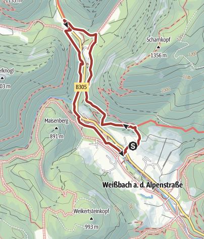 Karte / Weißbacher Salinen-Rundweg II