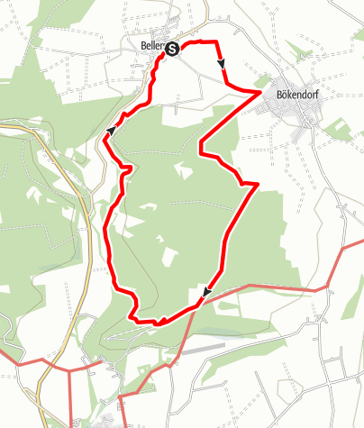 Karte / WDR Wandertage 2013 2.Etappe Bellersen 18.07.2013