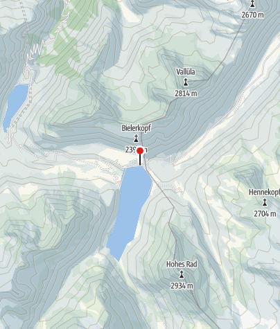 Kaart / Silvretta-Bielerhöhe