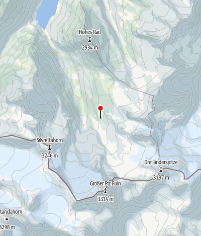 Karte / Ochsentaler Gletscher
