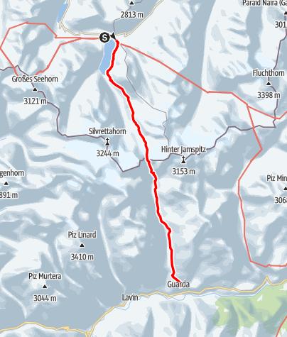 Karte / A10: Große Hirtentour nach Guarda