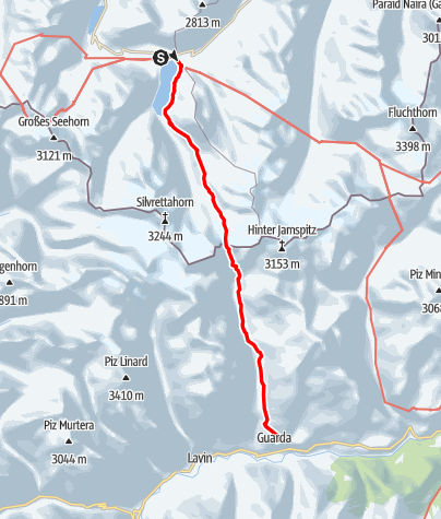 Map / Große Hirtentour nach Guarda