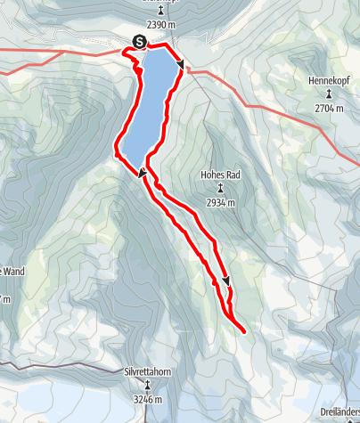 Karte / A9: Hirtentour Montafon (zur Wiesbadener Hütte)