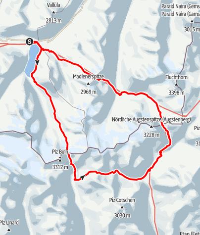 Karte / A11: Große Jägertour Vermunt / Futschöl - 2-tägig