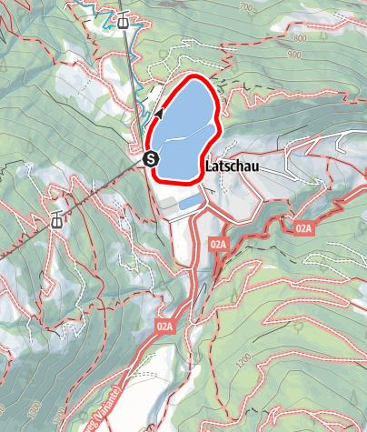 Karte / Seerundweg Latschau