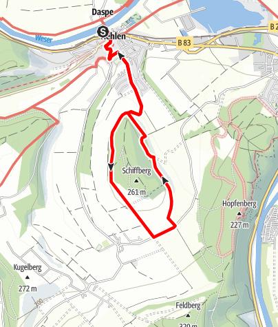 Karte / Rund um den Schiffberg (He 1)