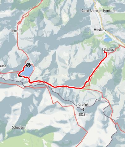 Map / Lünersee - Öfapass