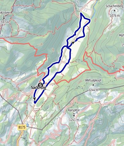 Karte / Kinderwagenrallye Sachrang