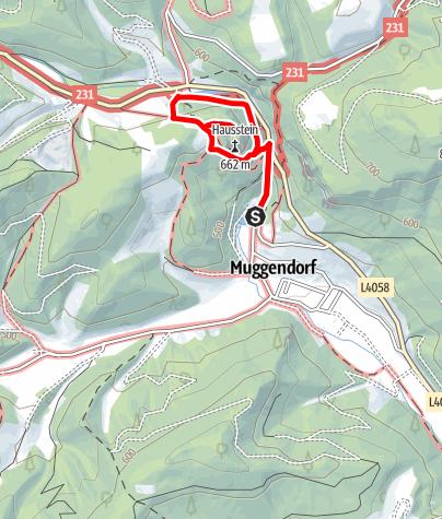 Map / Myrafälle hiking and water world, Muggendorf