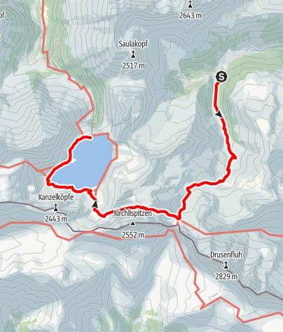 Kaart / Lünersee - Zaluanda Alpe