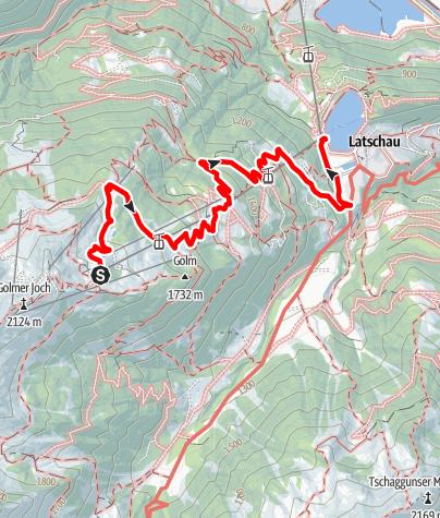 Map / Alpe Golm - Golmerbahn
