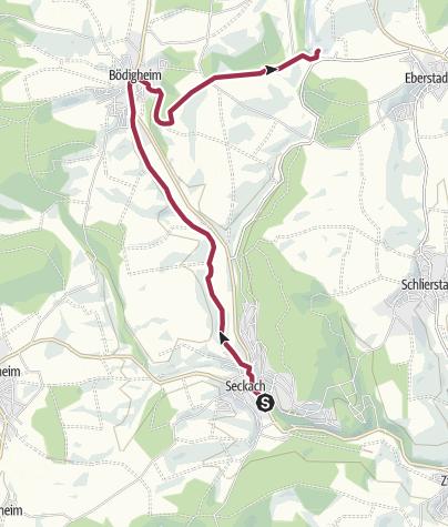 Karte / Zur Eberstadter Tropfsteinhöhle