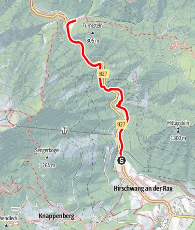 Térkép / 1. Wiener Wasserleitungsweg